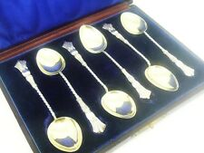 Silver Teaspoons, STERLING, Antique, Cased, Hallmarked 1898, Henry Hobson & Sons