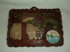 Souvenir God Bless Our Home Springfield Missouri Mo Plaque Wall Hanging