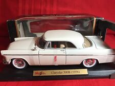 1956 CHRYSLER 300B WHITE 1:18 SCALE DIECAST MODEL CAR BY MAISTO 31897