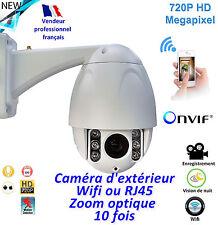 Caméra extérieure  motorisée - Wifi - Onvif  - Zoom x10 -  Vision de nuit