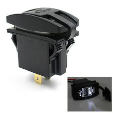 12V 24V Car Auto Boat Accessory Dual USB Charger Power Adapter LED Outlet