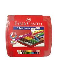 Faber Castell 25 Set Oil Pastel Set Crayons Gold & Silver Like Crayola Pentel