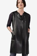 NWT ARMANI EXCHANGE LADYS BLACK FAUX LEATHER WEAR TO WORK VEST TOP SIZE XS