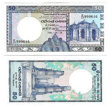 SRI LANKA 50 RUPEES 1990-04-05 UNC P 98