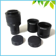 Microscope Digital Camera 1X C-Mount Lens with 30mm 30.5mm Adapter Ring