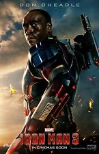 Iron Man 3 movie poster  : 11 x 17 inches : (style g) : Don Cheadle poster