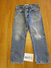 levi 505 repairs destroyed feather grunge jean tag 34x29 Meas 34x28.5 20097F