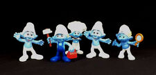 5 SMURFS Toy Figurines 2012 McDonald's HAPPY MEAL Peyo Hanna-Barbera Handy Chef