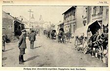 1915 * Durchzug k.u.k. Bagagetrains durch Neu-Sandec *  WW1