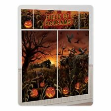 6ft x Halloween Party Giant Scene Setter Banner Decoration - Field of Screams