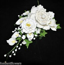 Gumpaste Peony Filler Spray Cascade Wedding Cake Topper Fondant Gum Paste Blosso