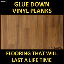 VINYL PLANK FLOORING TIMBER LOOK FLOOR GLUE DOWN FLOORS DIY DRY BACK TILE PLANKS