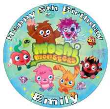 "Moshi Monster Personalised 7.5"" Cake Topper Edible Wafer Paper Birthdays"