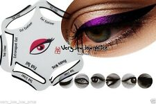 NEW 6 in 1 EYELINER Stencil Set Makeup Guide Quick Cat Eye Liner Shaper Tool
