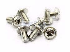 M3 12mm Washer Round Head Screw Bolt - Phillips- Pack of 50