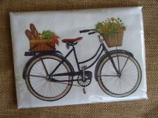 Flour Sack Towel Designed by Mary Lake Thompson - Flower & Market Baskets Bike
