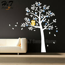 Owl Large Tree Blossom Vinyl Wall Sticker Home Decor Decal Bedroom Living Room