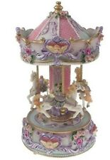 "GLOSSY  MUSICAL CAROUSEL  26CMS/ 10""  PLAYS ""AMAZING GRACE ""GIFT PRESENT BNIB"