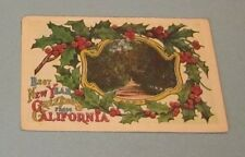 1915 New Years Greetings From California Postcard Pepper Plants Pan-Pacific Expo