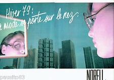 PUBLICITE ADVERTISING 036  1979   les lunettes Norell   (2p)