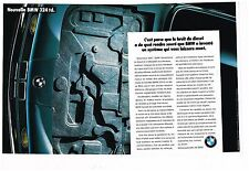 Publicité Advertising 1987 (2 pages) BMW 324 td