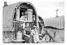 pt8193 - West Ardsley , Gypsies at Lee Gap Fair 1939 Yorkshire - photograph 6x4