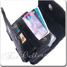 for LG ESCAPE 2 II AT&T BLACK WALLET LEATHER CASE HOLSTER COVER POUCH BELT LOOPS