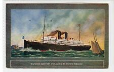 S.S. SIERRA EN ROUTE TO HONOLULU: Shipping postcard (C18829)