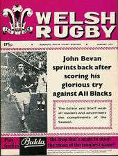 WELSH RUGBY MAGAZINE JANUARY 1973 NZ IN WALES, CARMARTHEN HARLEQUINS RFC