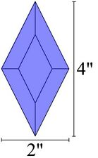 2x4 Diamond Bevels for Stained Glass - Blue (5)