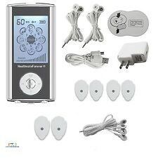 Pain Relief Machine Tens Electrodes Silver Reusable Portable Muscle Stimulator