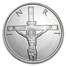2015 1/2 oz  JESUS SHEKEL Crucifixion BU Silver Shield Proof SBSS 999 Round 777