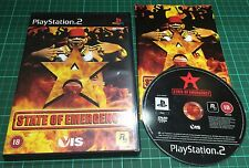 State Of Emergency For Sony PS2, Playstation 2, Complete