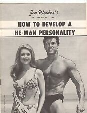 JOE WEIDER How to develop a He-Man Personality DON PETERS course 1959