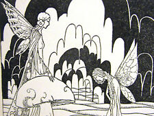 Virginia Frances Sterrett FAIRY PRINCESS & QUEEN of FAIRIES 1920 Print Matted