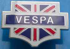 Vespa Union Jack Red, White, Silver And Blue Enamel Pin Badge