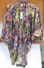 Miss Cocoa FLORESTA CAPE Womens 10 Floral Swimwear Coverup Ladies Resort Wear