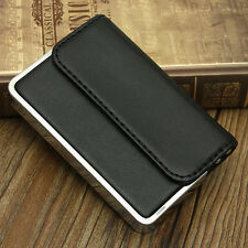 Premium Leather Fashion Business ID Credit Card Box Pocket Wallet Case Holder CN