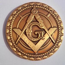 "Freemasons  Commemorative  Two Sided  Thick coin 1.75"" For Blue Lodge Mason gift"