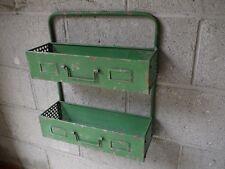 Estante de pared retro Locker Room de industrial Rack de almacenamiento Unidad Estantería Armario Verde