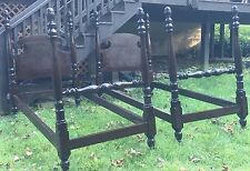 Pair of ANTIQUE  Mahogany Poster Twin Size Beds CIRCIA 1910