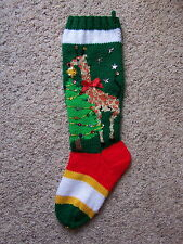 Nancy's Hand Knit Personalized Christmas Stocking Sock - GIRAFFE