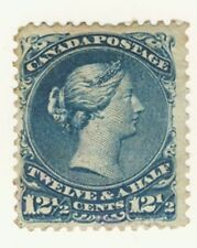 Canada Stamp Scott # 28 12.5-Cents Large Queen Used