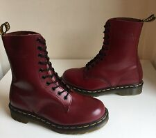 New! Sz6 England Dr. Martens 1490 Air Cushion Soles Oxblood Leather Boots Eu39
