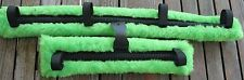 Miniature Mini Horse Donkey Fleece Cart Buggy Harness Driving Saddle Pads LIME