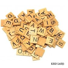 New 100 Wooden Scrabble Tiles Letters Varnished Alphabet Scrabbles Letters kids