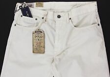 Men's POLO RALPH LAUREN Cream Jean Style Pants 36x34 36 NWT NEW Varick Slim 625