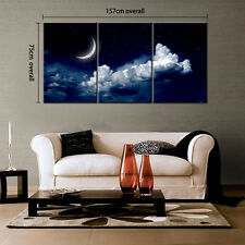 HD Canvas Print Home Decor Wall Art Picture Poster Sky Moon Night Unframed