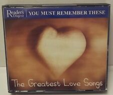 Reader's Digest - YOU MUST REMEMBER THESE- THE GREATEST LOVE SONGS. 3 CD BOXSET.