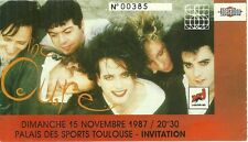 RARE / TICKET DE CONCERT - THE CURE : LIVE A TOULOUSE ( FRANCE ) 1987